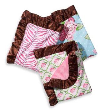 Caden Lane 5ROSLRB Boutique Girl Rose Lattice Ruffle Blanket