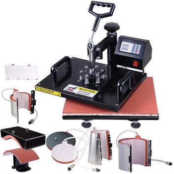 Yescomusa 7in1 12x15 Heat Press Transfer Machine Digital Sublimation 700W T-Shirt Mug Hat Plate Cap
