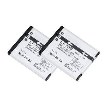 Battery for Olympus Li70B (2-Pack) Camera Batteries