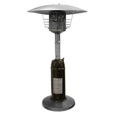 AZ Patio Heaters Garden Sun Tabletop Patio Heater - Hammered Bronze and Stainless Steel