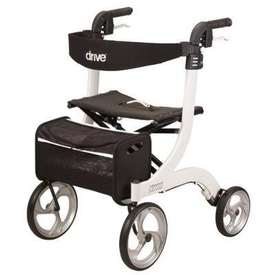 Drive Medical Nitro Euro Style Rollator Walker, White, 1 ea