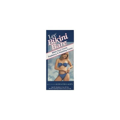 Lee Pharmaceuticals Lee Bikini Bare With aloe and collagen.Bikini area crème and depilatory and finishing crème