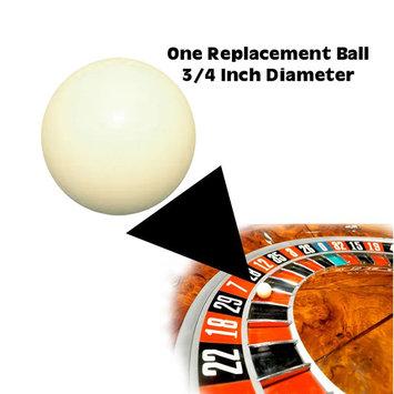 Trademark 3/4 inch Ball for Roulette Wheel White
