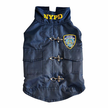 Royal Animals Nypd Police Badge Dog Coat, Size: XS (Blue)