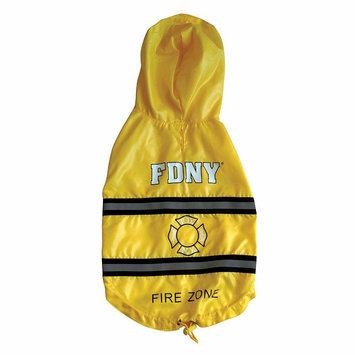 Royal Animals Fdny Fire Badge Dog Raincoat, Size: XS (Yellow)