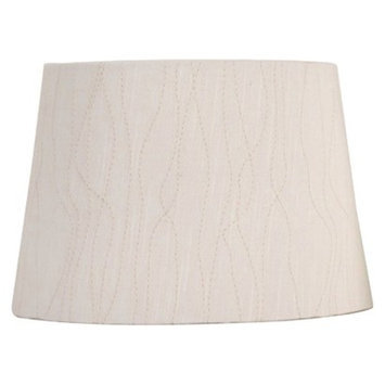 Threshold Embroidered Modified Drum Lamp Shade - Cream Small