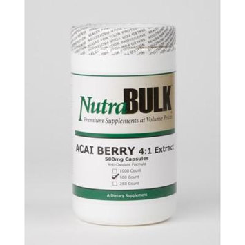 NutraBulk ACAI BERRY 4:1 Extract 500mg 500 Count