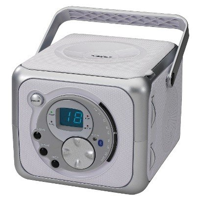 Jensen Portable Bluetooth Music System with CD Player - Silver (CD