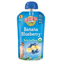 Earths Best Earth's Best Organic Baby Food Pouch, Banana Blueberry - 4oz (4 Count)