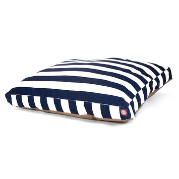 Majestic Pet Products, Inc. Navy Blue Vertical Stripe Small Rectangle Pet Bed