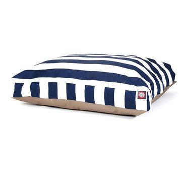 Majestic Pet Products, Inc. Navy Blue Vertical Stripe Medium Rectangle Pet Bed