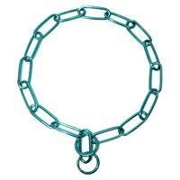 Platinum Pets 23 inch x 4mm Coated Chain Training Collar - Teal