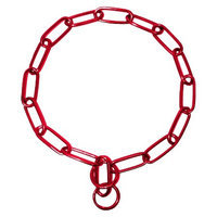 Platinum Pets 23 inch x 4mm Coated Chain Training Collar - Red