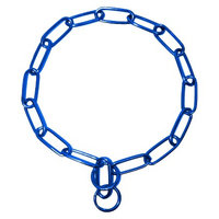 Platinum Pets 29 Inch x 4mm Coated Chain Training Collar - Blue