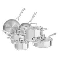 KitchenAid 10-Piece Tri-Ply Stainless Steel Cookware Set