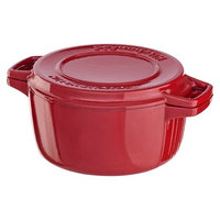 KitchenAid 6-Quart Professional Cast Iron Casserole Dish - Red