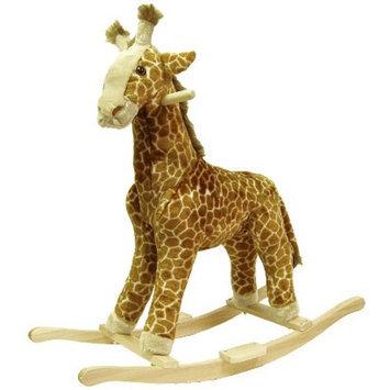Trademark Happy Trails Plush Rocking Giraffe - Brown