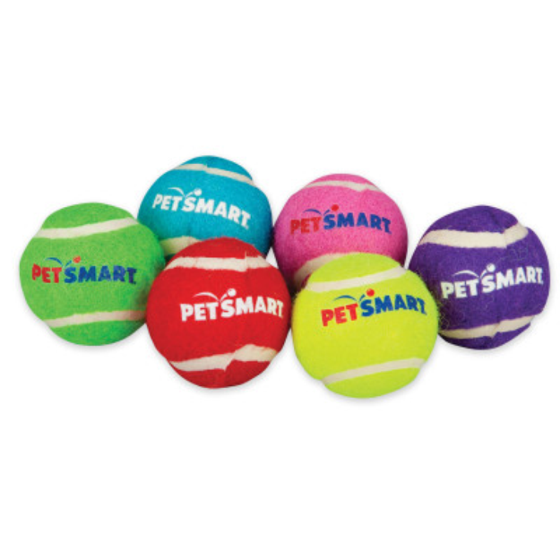 Grreat ChoiceA Petsmart Logo Mini Tennis Balls Dog Toy