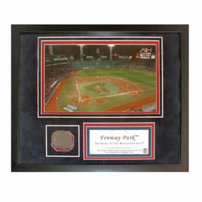 Steiner Sports Boston Red Sox Fenway Park Photograph w Authentic Mini Brick From Fenway Collage