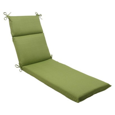 Pillow Perfect Outdoor Chaise Lounge Cushion - Green Forsyth Solid