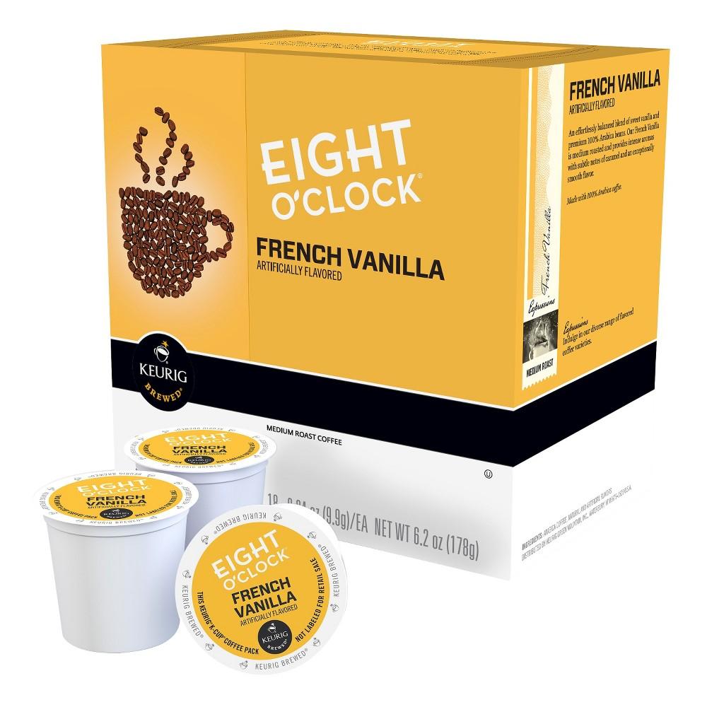 Keurig Eight O'Clock French Vanilla Medium Roast Coffee K-Cups 18 ct