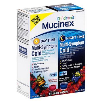 Children's Mucinex Day & Night Multi-Symptom Cold Relief Berry Flavor Liquid