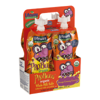 Lifeway ProBugs Organic Whole Milk Kefir Pouches Orange Creamy Crawler - 4 CT