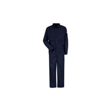 BULWARK CLD4NVLN56 Flame-Resistant Coverall, Navy,56