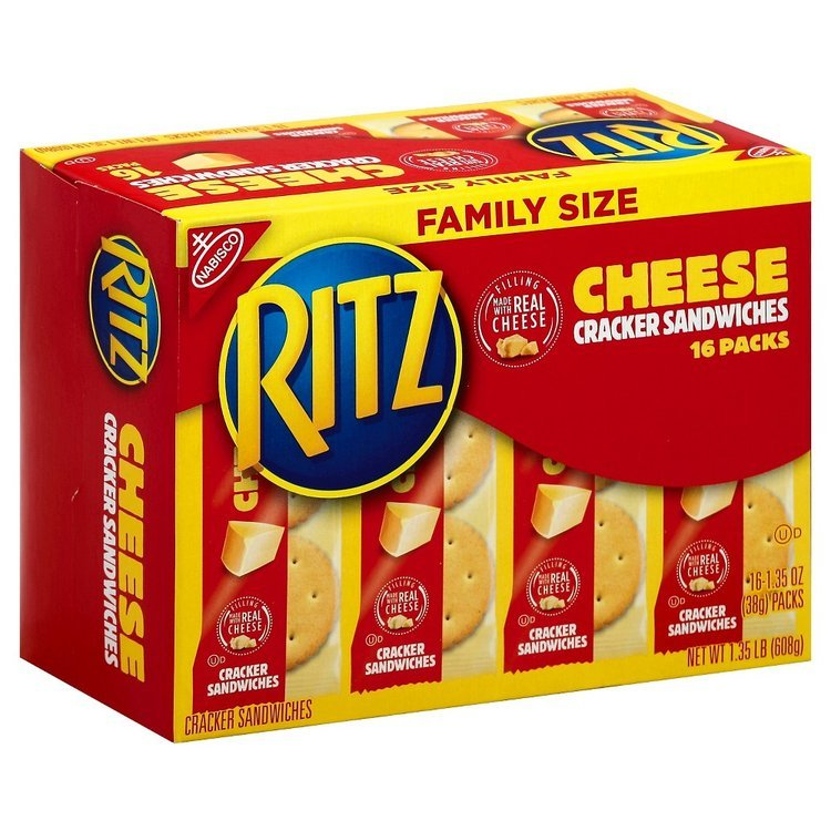 Ritz Cracker Sandwiches Family Size Cheddar 21.6 oz