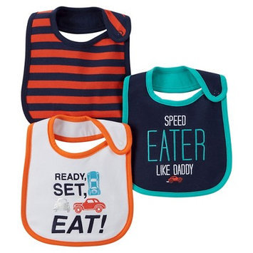 Just One You Made By Carter's Just One YouMade by Carter's Newborn Boys' 3 Pack Car Bib Set