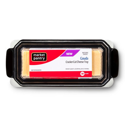Market Pantry Gouda Cracker Cut Tray 10 oz