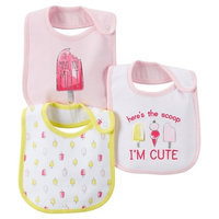 Just One You Made By Carter's Just One YouMade by Carter's Newborn Girls' 3 Pack Ice Cream Bib Set