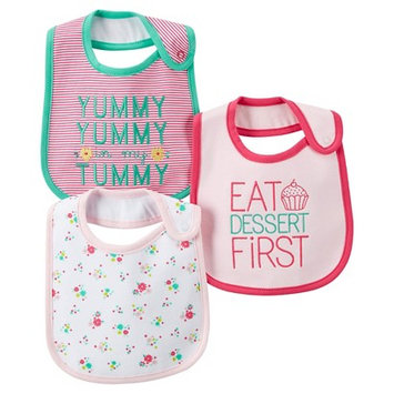 Just One You Made By Carter's Just One YouMade by Carter's Newborn Girls' 3 Pack Floral Bib Set