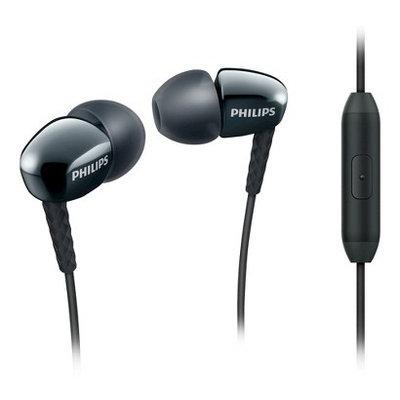 Philips Fashion Metallic-Housed In-Ear Headphones with Mic - Black