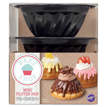Wilton MIni Fluted Cake Pan Set - Set of 3