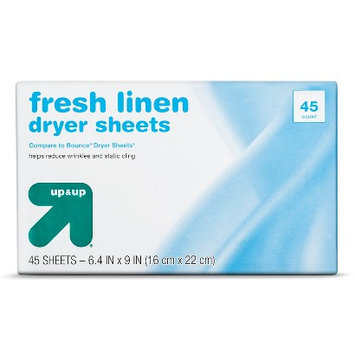Sun Products Corporation up & up Dryer Sheets - Fresh Linen Scent - 45 ct