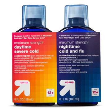 up & up Maximum Strength Daytime and Nighttime Liquid Cold - 6 fl oz (each)