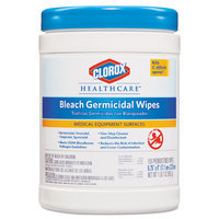CLOROX 30577 Germicidal Wipes, 6 x 5, White, 150/Canister