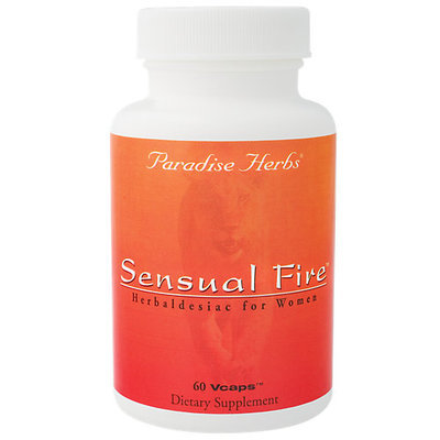Paradise Herbs & Essentials Sensual Fire For Women 350 MG - 60 Veggie Caps - Female Intimacy Herbs