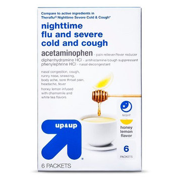 up & up Nighttime Flu, and Severe Cold and Cough Acetaminophen Packets