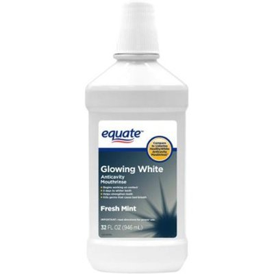 Equate Fresh Mint Glowing White Anticavity Mouthrinse, 32 fl oz