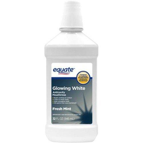 Equate Fresh Mint Glowing White Anticavity Mouthrinse, 32 fl oz