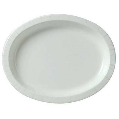 DIXIE SX11PLW Disposable Plate,8-5/8X11In, White, PK500