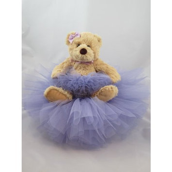 The Blue River Baby Shoppe Lilac Tutu Bear Diaper Cake
