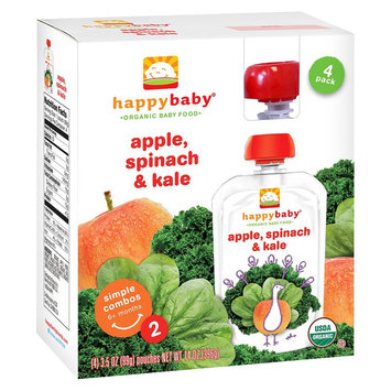 Nurture, Inc. Happy Baby Apple Spinach, & Kale - 3.5oz (4 Pack)