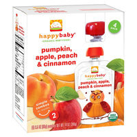 Nurture, Inc. Happy Baby Pumpkin, Apple, Peach, & Cinnamon - 3.5oz (4 Pack)