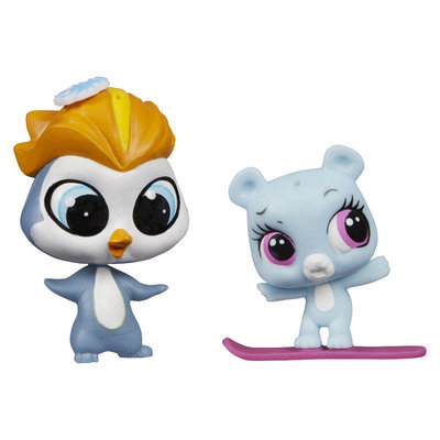 Hasbro Littlest Pet Shop Pet Pawsabilities Eliza Blue & Rad Slopington