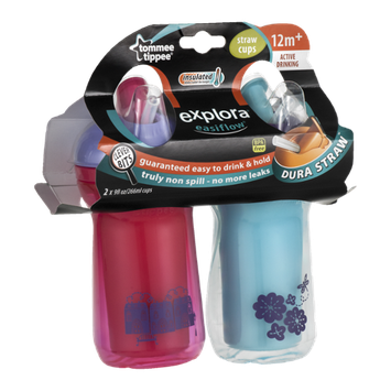 Tommee Tippee Explora Easiflow Straw Cups 12M+ - 2 CT