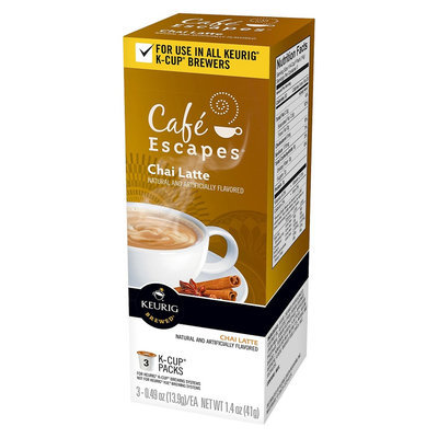 Keurig Cafe Escapes Chai Latte