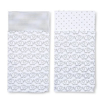 4pk Flannel Receiving Blankets Black/White by Circo